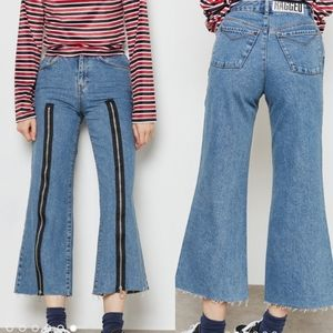 The Ragged Priest Wide Leg Zipped Jeans